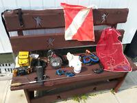 scuba diving gear