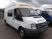 FORD TRANSIT 350 H-R UTILITY VAN CW TOILET AND KITCHEN FACILITIES, White, Manual