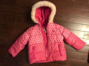 Toddler Girl Winter Jacket & Snow Pant Set -Sz 4T