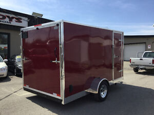 6' x 12' V-Nose Cargo Trailer • 3 Year Warranty • Made in Canada Kitchener / Waterloo Kitchener Area image 4