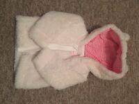 Baby girl coat 0-3m debenhams