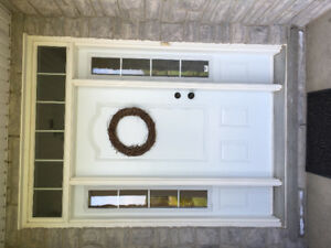 Steel Door with Transom and Sidelights
