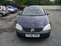 Volkswagen Golf 2.0SDI 2006MY S. 73120 MILES FROM NEW.