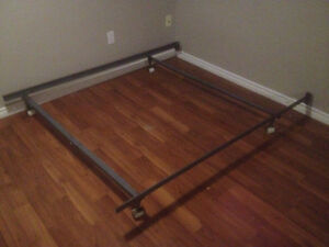 Metal Adjustable Bedframe With Castors (Single, Double or Queen)