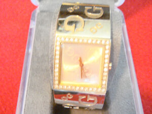 Guess Wide Band Crystal Watch