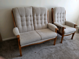 Cottage two seater sofa and chair