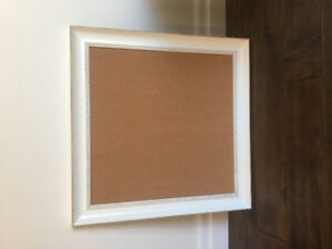 Off white cork board