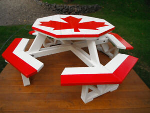 Summer is Coming Folks - Octagon Picnic Table - Canadian Flag!!