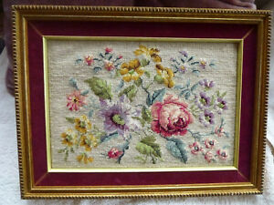 needlepoint rose picture