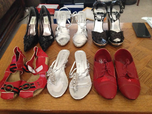Set of 6 pairs of size 7.5 Brand New Ladies Shoes. (Sold as a se
