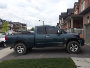 "2004 NISSAN TITAN 5.6L V8 4x4 (lifted on 35"" tires)"