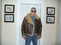 "Aviation Jacket, ""Bomber""Genuine Stressed Sheepskin"