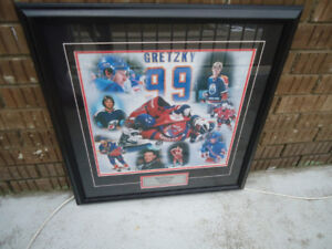 """Wayne Gretzky """"The Great One"""" Final Farewell Framed Print"""