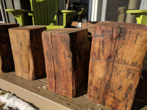 Barn Beam Stumps - side table/stools/plant stands etc