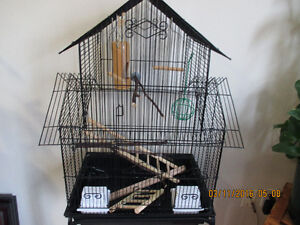 Large Bircage with Stand and Accessories