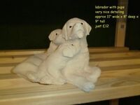 Dog garden ornaments, beagle, spaniel, Labrador etc