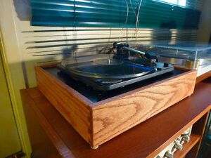 Dual 1009 SK2 Full Auto Turntable with Custom Solid Oak Cabinet