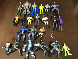 MANY BATMAN ACTION FIGURES, VILLAINS, VEHICLES