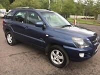 0808 Kia Sportage 2.0CRDi 4WD XE Blue 5 Door 71157mls MOT 12m