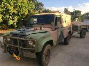 Ex-Army Landrover 110 with trailer Coconut Grove Darwin City Preview
