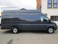 NO VAT Ford Transit LWB Jumbo 2.2TDCi high roof One Owner from new (45)