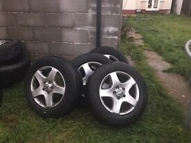 "Volkswagen vw Touareg Tiguan transporter 19"" alloy wheels and tyres"