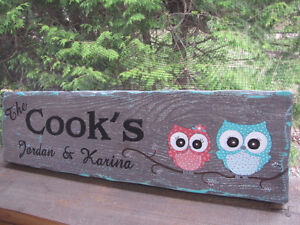 Signs/plaques hand painted, personalized rustic cedar