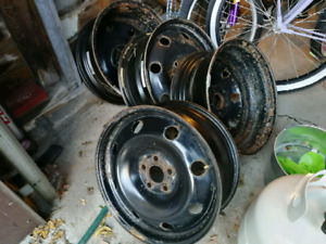 4  16 inch steel rims for 205 55 16 Matrix