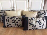 Set of raw silk effect cushions