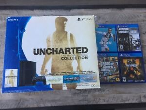 PS4 with 2 controllers and 4 games all in good condition.