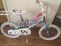 """Girls 16"""" puppy bike"""