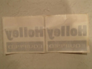 2 1970's Vintage Original  HOLLEY EQUIPPED Sticker / Decal Sarnia Sarnia Area image 2