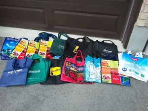 Lot of 20 assorted reusable tote shopping bags London Ontario image 1