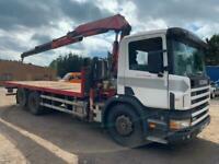 Scania 94d 2004 54 6x2 26 ton rear lift crane truck manual