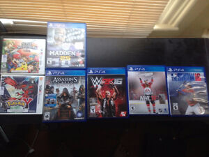 PS4 and 3DS Games