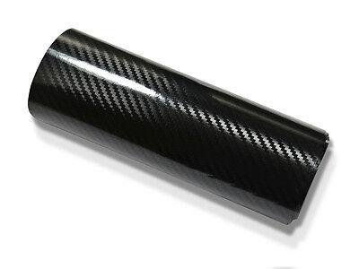 5D Carbonfolie Schwarz Hochglänzend 152 cm x 50 cm Luftkanäle