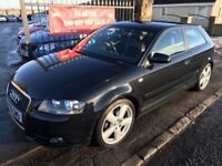 2006 AUDI A3 2.0 TDI S-LINE, 1 YEAR MOT, SERVICE HISTORY, WARRANTY, NOT 120 C CLASS GOLF ASTRA FOCUS