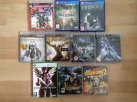 Lot- 2 PS4, 7 PS3, 1 XBOX 360 Games
