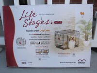 Life Stages-Double Door Folding Dog Crate