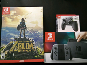 Nintendo Switch w/ Zelda Special Edition and Pro Controller