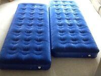 Air beds single x 2