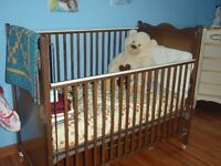 Crib, mattress and crib bedding