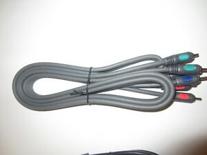 Two 6 ft. Component HDTV video cables