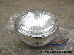 Headlight + Chrome Case Yamaha CHAPPY LB50 LB80    //  Brand New