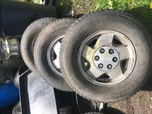 4 lt 245/75/16 gm rims and tires
