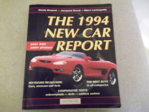 The 1994 New Car Report Book