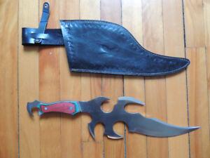 Couteau-épée, médievale, donjon & dragon