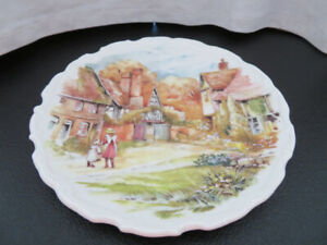Decorative Plate - English Village Scene