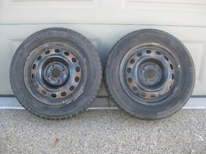 CHEAP! 2,185 65 R14 Winter Tires On Rims.