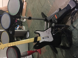 XBOX 360 drums/guitar/mic (wired)